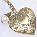 Heart Locket Necklace,brid..